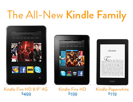 All new Kindle family